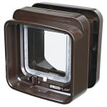 Sureflap DualScan Katzenklappe - Farbe: Braun