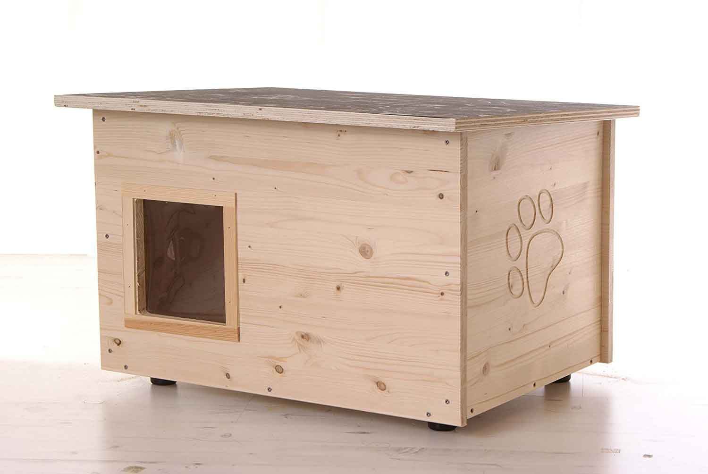 katzenhaus mit heizung und klappe fertig kaufen oder selber bauen. Black Bedroom Furniture Sets. Home Design Ideas
